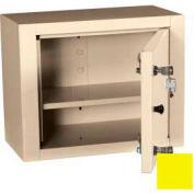 "Harloff Narcotics Box, Medium, Single Door, Double Lock, 15""W x 8""D x 12""H - Yellow"