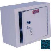 "Harloff Narcotics Box, Medium, Single Door, Single Lock, 15""W x 8""D x 12""H - Hammer Tone Blue"
