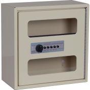 "Harloff See Thru Medicine Cabinet, Electronic Combo Lock, Single Door 12""W x 6""D x 12""H, Sand"