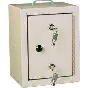 "Harloff Narcotics Cabinet, Small, Single Door/Double Lock, 7""W x 7""D x 10""H, Beige"
