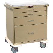 Harloff Four Drawer Procedure Cart, Key Lock Standard Package, Sand - 6350