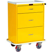 Harloff Classic Line Tall Three Drawer Isolation Cart Standard Package, Red - 6510