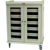 Harloff Intraocular Lens Storage Cart 6 Drawer 924 Lens Cap. Gray with Steel Doors - IOL924
