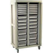"Harloff Preset Double Column Cart, 42""W x 29-5/8""D x 76""H, Key Lock, Light Gray, MS8140DR-A"