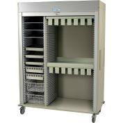 """Harloff Catheter Procedure Cart, 59-5/8""""W x 27-15/16""""D x 80-1/2""""H, Key Lock, Beige, MS8160-CATH2"""