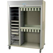 "Harloff Catheter Procedure Cart, 59-5/8""W x 27-7/8""D x 80-1/2""H, Key Lock, Sand, MS8160-CATH2"