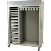 """Harloff Catheter Procedure Cart, 59-5/8""""W x 27-15/16""""D x 80-1/2""""H, Key Lock, Beige, MS8160-CATH4"""
