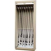 """Scope Storage Cabinet w/Drying Pkg., 36""""W x 18-3/4""""D x 93-1/4""""H, 16 Bronchoscopes, Red"""