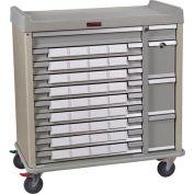 Harloff Standard Line Med-Bin Medication Cart 34 Patient Bin Drawers, Sand - SL36BIN5