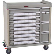 Harloff Standard Line Med-Bin Medication Cart 54 Patient Bin Drawers, Sand - SL54BIN3
