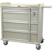 Harloff Standard Line Punch-card Medication Cart 600 Card Capacity, Hammertone Green - SL600PC