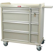 Harloff Standard Line Punch-card Medication Cart 600 Card Capacity, Sand - SL600PC
