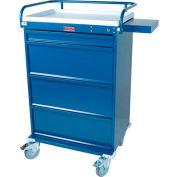 Harloff Value Line Med-Bin Medication Cart 24 Patient Bin Drawers, Yellow - VLT24BIN5