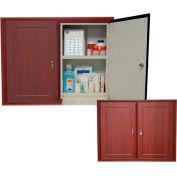 "Wooden Laminate In-Wall Medicine Cabinet, Double Unit, 30-1/2""W x 6-13/16""D x 25""H, Solara Oak"