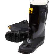 Black Latex Over the Shoe Slush Boot, Size 14