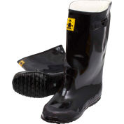 Black Latex Over the Shoe Slush Boot, Size 16