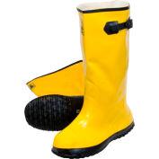 Yellow Latex Over the Shoe Slush Boot, Size 8