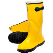 Yellow Latex Over the Shoe Slush Boot, Size 10