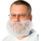 Beard Covers, Polypropylene, White, 100/Bag, 10 Bags/Case, XL