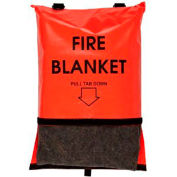 "First Voice™ Bright Orange Fire Blanket with Bag, 84""L x 62""W"