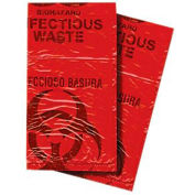 First Voice™ Red Biohazard Waste Disposable Bags, 7-10 Gallon, 50/Pack