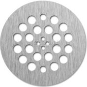 "Tile-Redi, DP-RD-BN, 4.25"" Dia., Round 14 Gauge Stainless Steel Drain Plate, Brushed Nickel Finish"