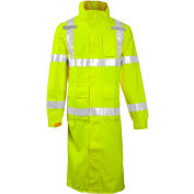 "Tingley® C24122 Icon™ Hooded Coat, Fluorescent Yellow/Green, 48"", 2XL"