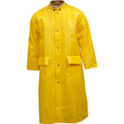 "Tingley® C31207 Webdri® Coat, Yellow, 48"", 2 Patch Pockets, Hood Snaps, 3XL"