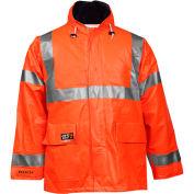 Tingley® Eclipse™ Hi-Visibility FR Hooded Coat, Zipper, Fluorescent Orange/Red, 2XL