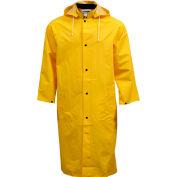 "Tingley® C53217 .35mm Industrial Work Coat, Yellow, 48"", Detachable Hood, Medium"