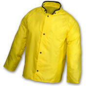 Tingley® J21207 Eagle™ Storm Fly Front Jacket, Yellow, Hood Snaps, Large