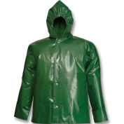 Tingley® J22168 Iron Eagle® Storm Fly Front Hooded Jacket, Green, 3XL