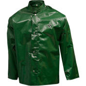 Tingley® J22208 Iron Eagle® Storm Fly Front Jacket, Green, Hood Snaps, 4XL