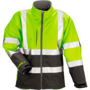 Tingley® J25022 Phase 3™ Soft Shell Jacket, Fluorescent Yellow/Green/Charcoal Gray, 5XL