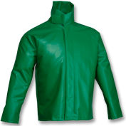 Tingley® J41008 SafetyFlex® Storm Fly Front High Collar Jacket, Green, XL