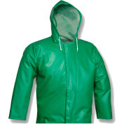 Tingley® J41108 SafetyFlex® Storm Fly Front Hooded Jacket, Green, 2XL