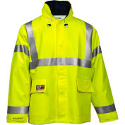 Tingley® Eclipse™ Hi-Visibility FR Hooded Jacket, Zipper, Fluorescent Yellow/Green, S