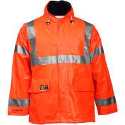 Tingley® Eclipse™ Hi-Visibility FR Hooded Jacket, Zipper, Fluorescent Orange/Red, 5XL