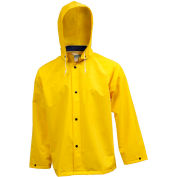 Tingley® J53207 .35mm Industrial Work Jacket, Yellow, Detachable Hood, 3XL
