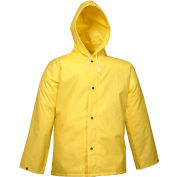 Tingley® J56107 DuraScrim™ Storm Fly Front Hooded Jacket, Yellow, 2XL