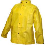 Tingley® J56207 DuraScrim™ Storm Fly Front Jacket, Yellow, Hood Snaps, Medium