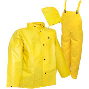 Tingley® S56307 DuraScrim™ 3 Pc Suit, Yellow, Detachable Hood, Large
