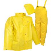 Tingley® S56307 DuraScrim™ 3 Pc Suit, Yellow, Detachable Hood, Medium