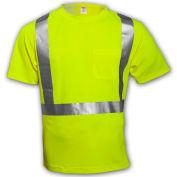 Tingley® S75022 Class 2 Short Sleeve T-Shirt, Fluorescent Yellow, 3XL
