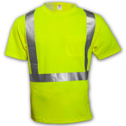 Tingley® S75022 Class 2 Short Sleeve T-Shirt, Fluorescent Yellow, 4XL