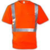 Tingley® S75029 Class 2 Short Sleeve T-Shirt, Fluorescent Orange, 4XL