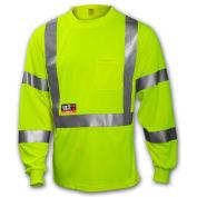 Tingley® Class 3 FR Long Sleeve T?Shirt, Fluorescent Yellow/Green, 2XL