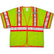Tingley® V70332 Job Sight™ Class 3 Two-Tone Vest, Fluorescent Lime, 4XL/5XL