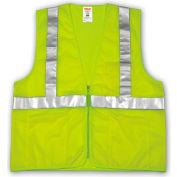 Tingley® V70632 Job Sight™ Class 2 Vest, Fluorescent Lime, Polyester Mesh, S/M