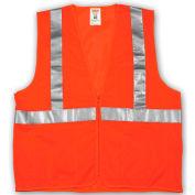 Tingley® V70639 Job Sight™ Class 2 Vest, Fluorescent Orange, Polyester Mesh, S/M
